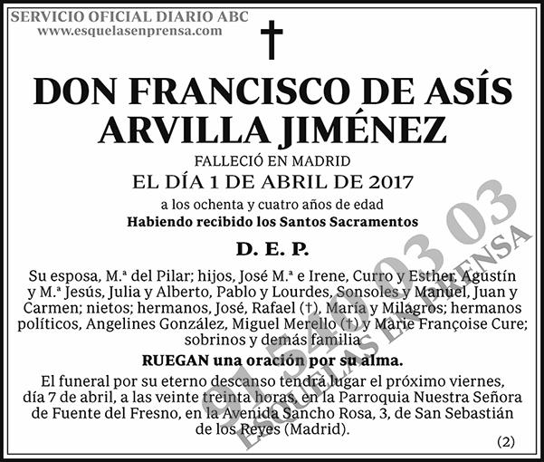 Francisco de Asís Arvilla Jiménez